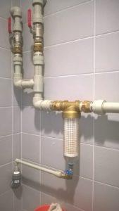Rozvod pitná voda s filtrem